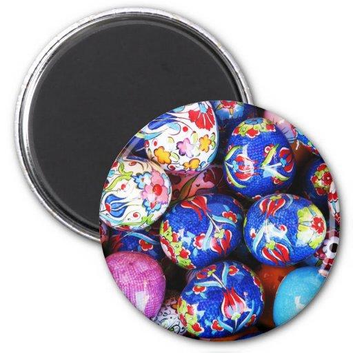Huevos de cerámica del diseño de Iznik Imanes