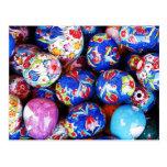 Huevos de cerámica del diseño de Iznik Postal