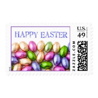 Huevos de chocolate felices de Pascua Sello