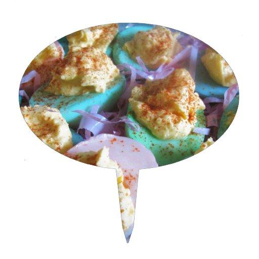 Huevos de Deviled en colores pastel Figuras Para Tartas