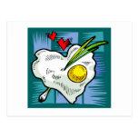 Huevos de los corazones del desayuno del amor del  tarjeta postal