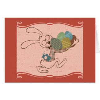 Huevos de muy buen gusto del conejito de pascua tarjeta de felicitación