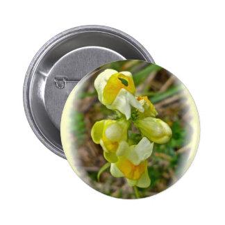 Huevos de n de la mantequilla del Wildflower ' Pin Redondo De 2 Pulgadas