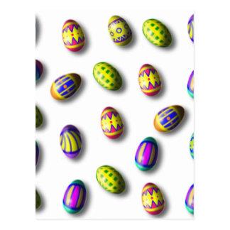 Huevos de Pascua adornados Postal