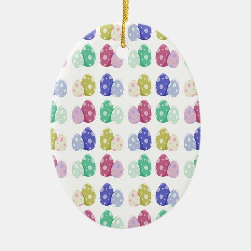 Huevos de Pascua Adorno Navideño Ovalado De Cerámica