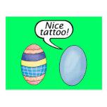 Huevos de Pascua agradables del tatuaje Postales