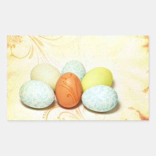 Huevos de Pascua bonitos Pegatina Rectangular