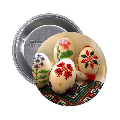 Huevos de Pascua bordados Pin