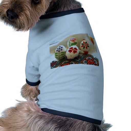 Huevos de Pascua bordados Camiseta De Perro