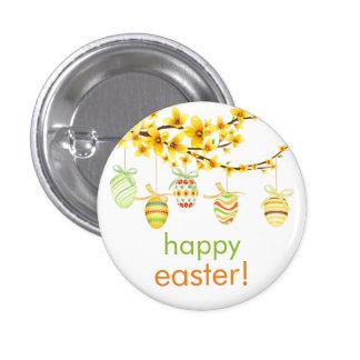 Huevos de Pascua, botón de la rama del Forsythia Pin Redondo De 1 Pulgada