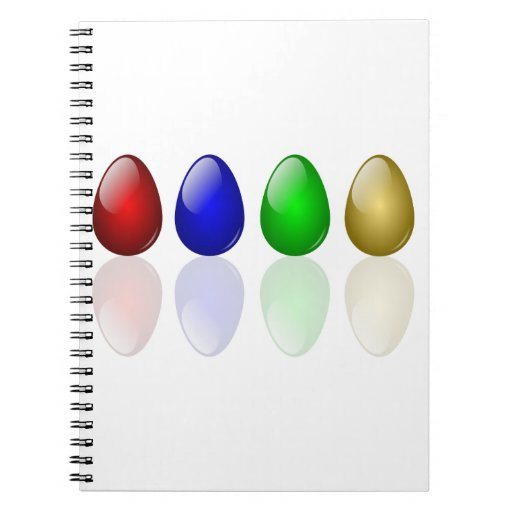 Huevos de Pascua brillantes Libreta Espiral