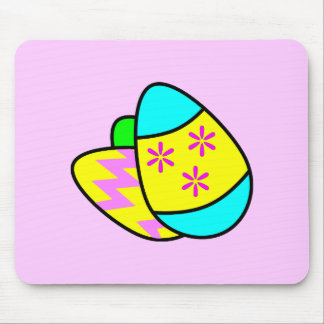 Huevos de Pascua brillantes Mousepad 1 Tapete De Ratones