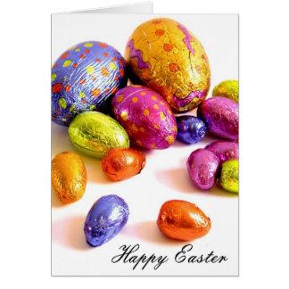 huevos de Pascua brillantes Tarjeta De Felicitación