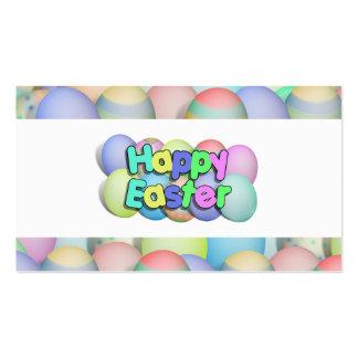 Huevos de Pascua coloreados - Pascua feliz Plantilla De Tarjeta De Visita
