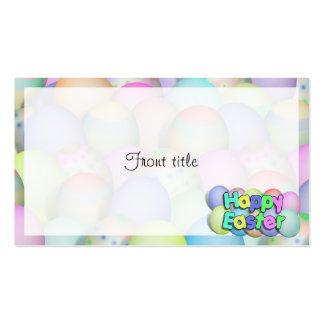 Huevos de Pascua coloreados - Pascua feliz Tarjeta De Negocio