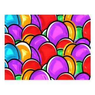 Huevos de Pascua coloreados Postal