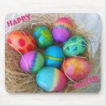 Huevos de Pascua coloridos Alfombrilla De Ratón
