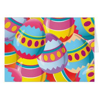 Huevos de Pascua coloridos - colores de la fiesta Tarjeta Pequeña