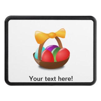 Huevos de Pascua coloridos en un dibujo animado de