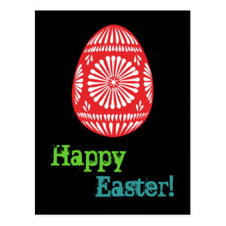 ¡Huevos de Pascua coloridos Pascua feliz! Postal 1