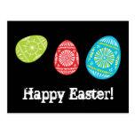 ¡Huevos de Pascua coloridos Pascua feliz! Postal 2