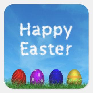 Huevos de Pascua coloridos - pegatina