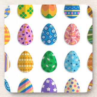 Huevos de Pascua coloridos Posavaso