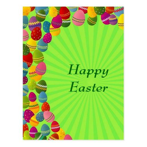 Huevos de Pascua coloridos Tarjeta Postal