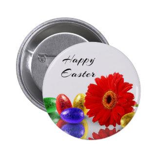Huevos de Pascua con el Gerbera - botón Pins
