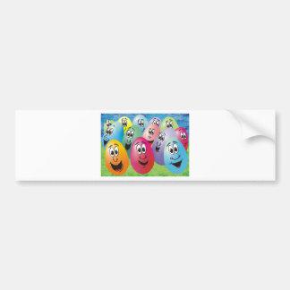 Huevos de Pascua con las caras Pegatina De Parachoque