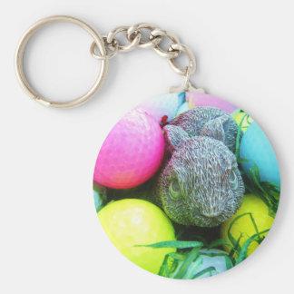 Huevos de Pascua, conejo, pelotas de golf Llavero Personalizado