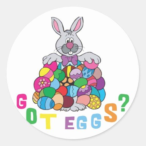 ¿Huevos de Pascua conseguidos? Etiqueta Redonda