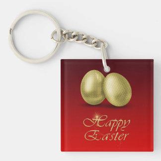 Huevos de Pascua de oro - llavero de acrílico