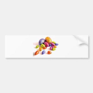 Huevos de Pascua del chocolate para los días de fi Etiqueta De Parachoque