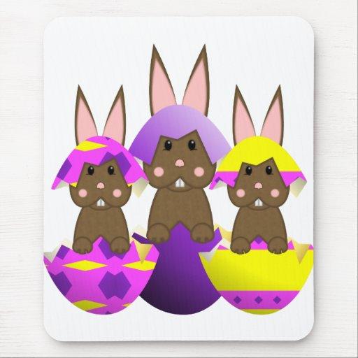Huevos de Pascua del conejito de Brown Alfombrilla De Ratón