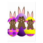 Huevos de Pascua del conejito de Brown Tarjeta Personal