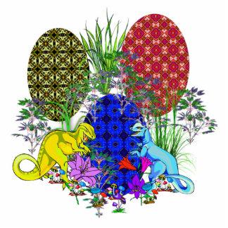 Huevos de Pascua del dinosaurio Fotoescultura Vertical