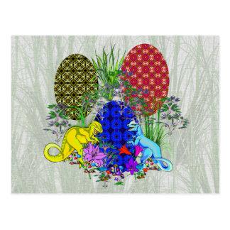 Huevos de Pascua del dinosaurio Tarjeta Postal