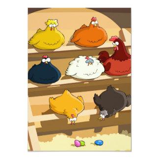"""Huevos de Pascua del gallinero de pollo Invitación 4.5"""" X 6.25"""""""