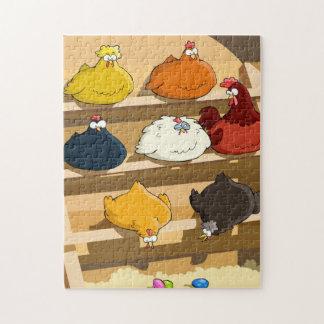 Huevos de Pascua del gallinero de pollo Puzzle