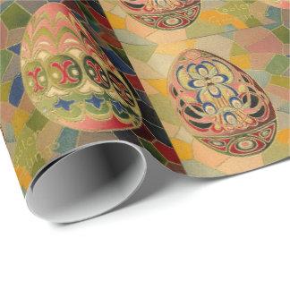 Huevos de Pascua del vintage Papel De Regalo