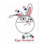 Huevos de Pascua (desafío) aceptados Postal