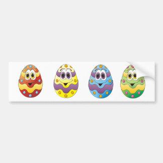 Huevos de Pascua divertidos Etiqueta De Parachoque