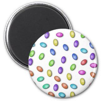 Huevos de Pascua en colores pastel Imán Redondo 5 Cm