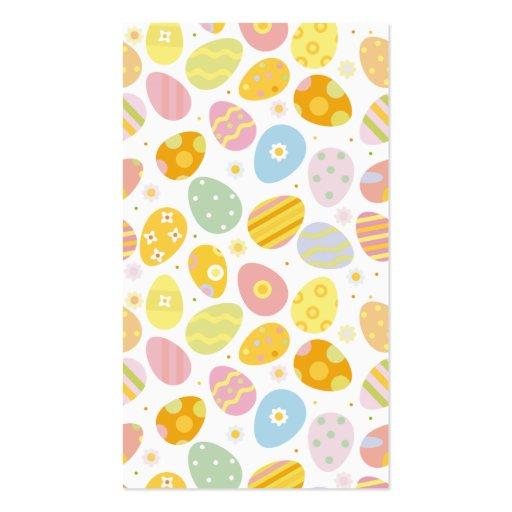 Huevos de Pascua en colores pastel Tarjetas De Visita