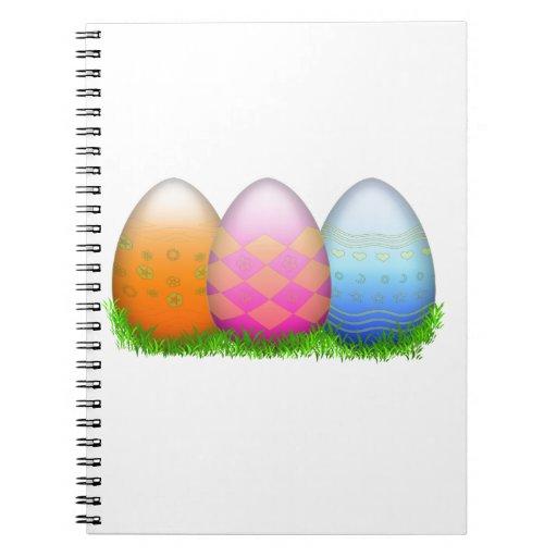 Huevos de Pascua en hierba Libreta