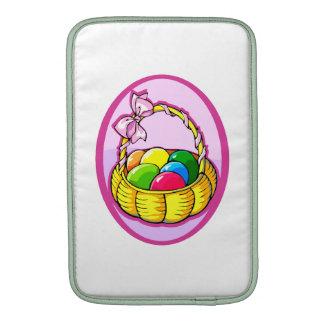 huevos de Pascua en la lila oval png de la cesta Funda MacBook
