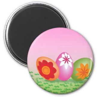 Huevos de Pascua en rosa Imán Redondo 5 Cm