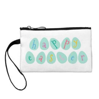 Huevos de Pascua felices en aguamarina