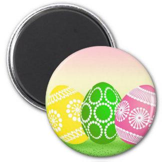 Huevos de Pascua felices Imán Redondo 5 Cm